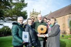 Cubbington Action Group with Tree of the Year trophy 2015